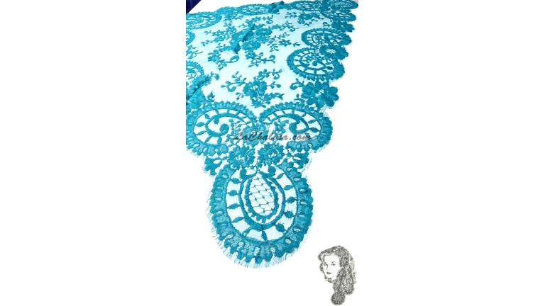 Chalina Española Modelo Medallon Verde Azulado
