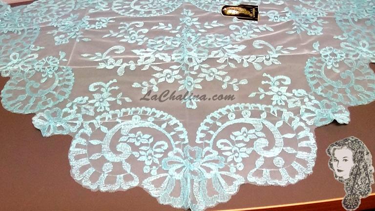 Chalina Italiana Modelo Medallon Azul Celeste 801