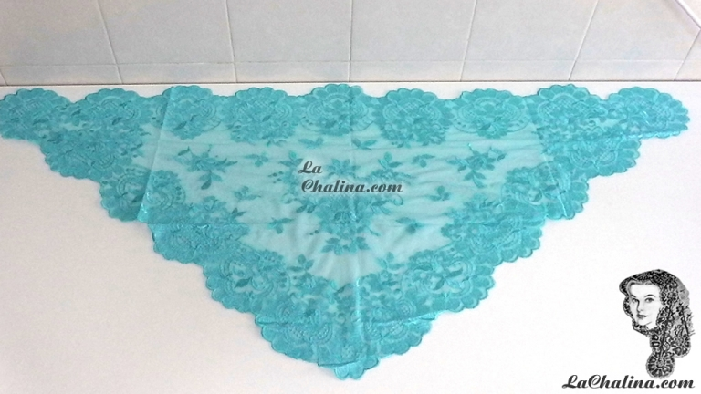 Chalina Italiana Modelo Flor de Liz Azul Celeste 802