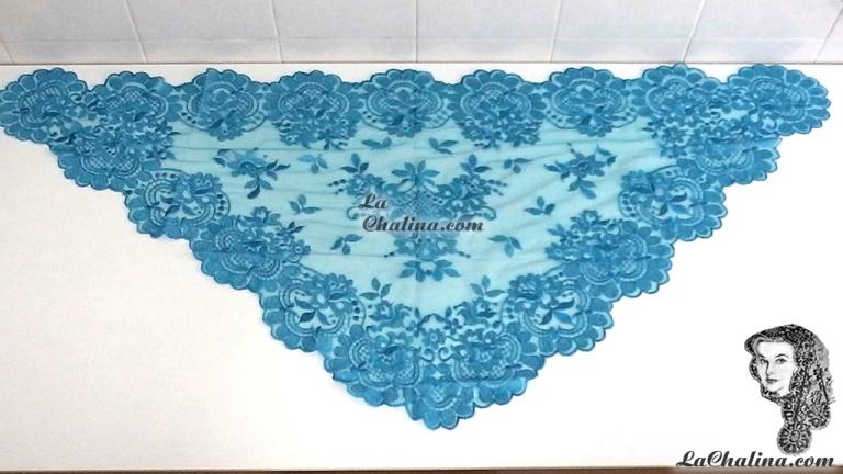 Chalina Italiana Modelo Flor de Liz Azul Turquesa 371