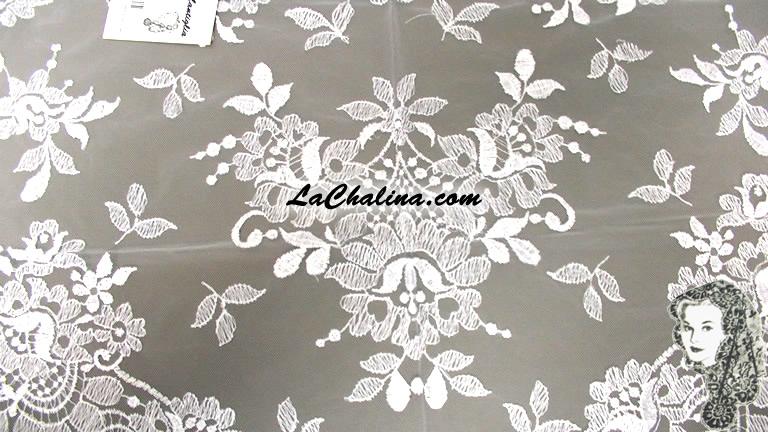 Chalina Italiana Modelo Flor de Liz Blanco 800
