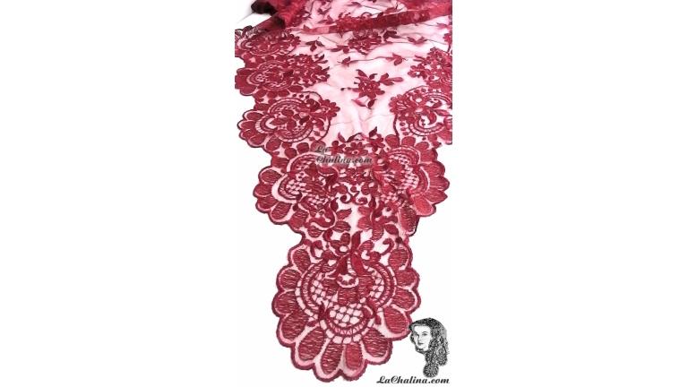 Chalina Italiana Modelo Flor de Liz Granate 192