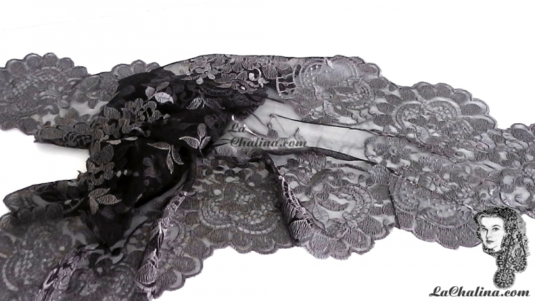 Chalina Italiana Modelo Flor de Liz Gris Oscuro 486