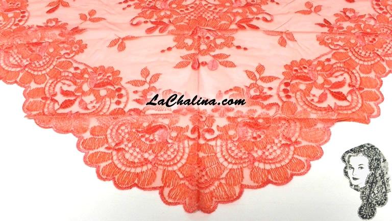 Chalina Italiana Modelo Flor de Liz Salmon 141