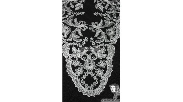 Chalina Española Modelo Paraiso  Blanco 800 Fondo Negro