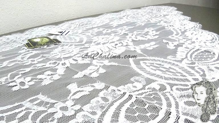 Chalina Francesa Modelo Lea Color Blanco Optico