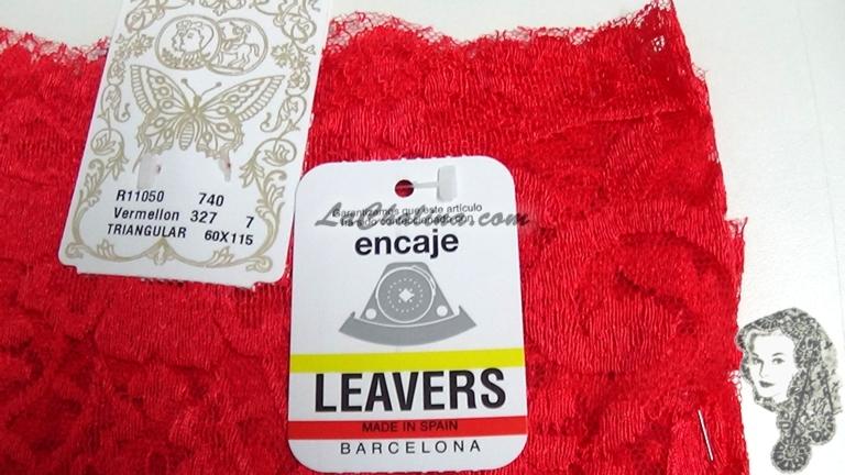 Chalina Española Modelo Medallon Vermellon 327