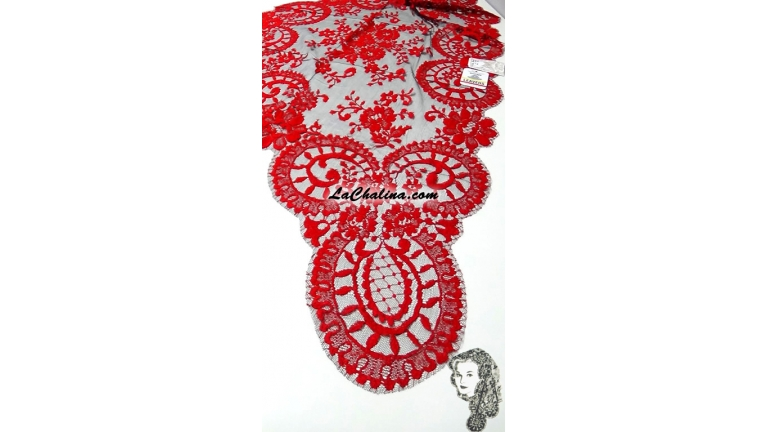 Chalina Española Modelo Medallon Roja 411