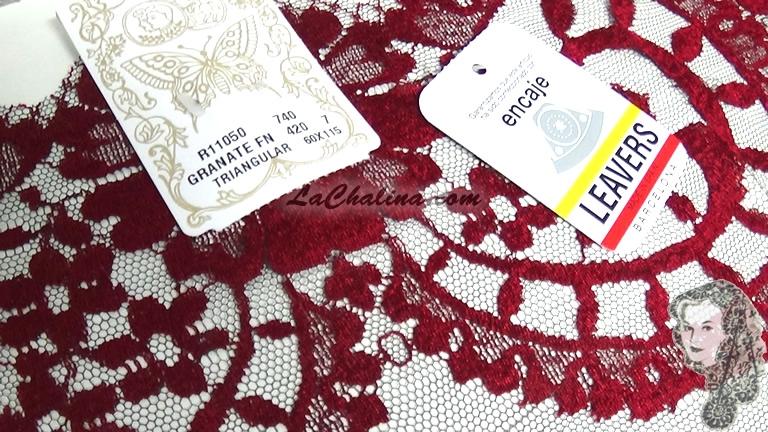Chalina Española Modelo Medallon Granate 420 Fondo Negro