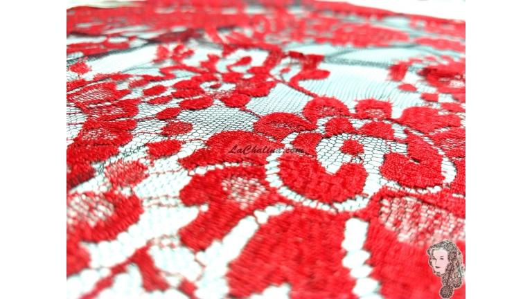 Chalina Española Modelo Rombo Rojo Fondo Negro 411
