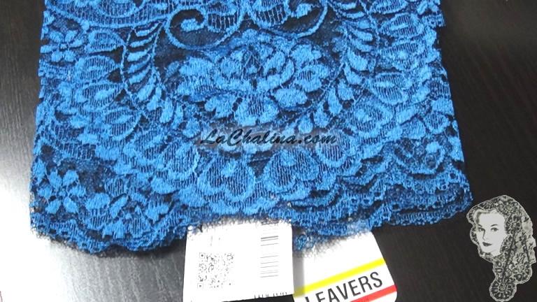 Chalina Española Modelo Malagueña Azul Rey 541 Fondo Negro