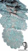 Chalina Italiana Modelo Flor de Liz Azul Celeste 802 Fondo Negro