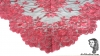 Chalina Italiana Modelo Flor de Liz Coral 105 Fondo Negro