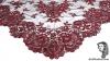 Chalina Italiana Modelo Flor de Liz Granate 192 Fondo Negro