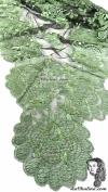 Chalina Italiana Modelo Flor de Liz Verde Eucalipto 201 Fondo Negro