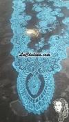 Chalina Italiana Modelo Malagueña Azul Turquesa 371 Fondo Negro