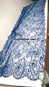 Chalina Española Modelo Ada Rectangular Azul