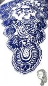 Chalina Francesa Modelo Lea Color Azul Marino