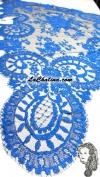 Chalina Española Modelo Medallon Azul Royal 547 Fondo Negro