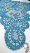 Chalina Española Modelo Medallon  Azul Turquesa 573