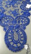 Chalina Española Modelo Medallon Marino 601 Fondo Negro