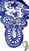 Chalina Española Modelo Medallon Azul Electrico 605