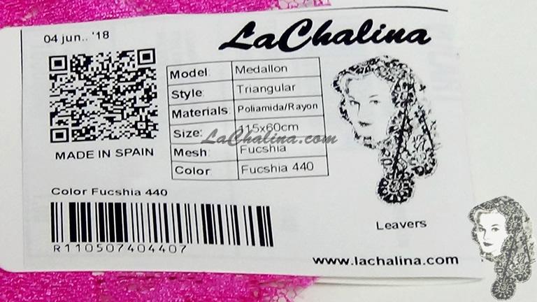 Chalina Española Modelo Medallón Fucsia 440