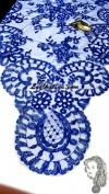 Chalina Italiana Modelo Medallon Azul Marino 334 Fondo Azul Royal