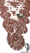 Chalina Italiana Modelo Flor de Liz Chocolate Claro 786