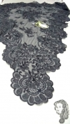 Chalina Italiana Modelo Flor de Liz Negro Metalico 900