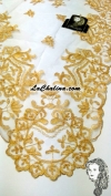 Chalina Española Modelo Medalla Dorado Metalico 901 Fondo Blanco