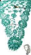 Chalina Francesa Modelo Acsa Color Verde Esmeralda