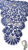 Chalina Francesa Modelo Paris Azul Marino Fondo Negro