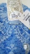 Chalina Española Modelo Medallon Celeste 815 Fondo Azul
