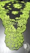 Chalina Española Modelo Espiral Verde Pistacho 212 Fondo Negro